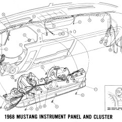 1966 Mustang Dash Light Wiring Diagram Kenmore Clothes Dryer 1968 Diagrams And Vacuum Schematics