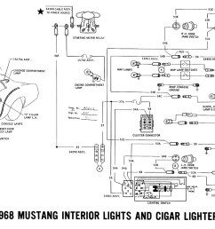 1968 mustang wiring diagram interior lights cigar lighter [ 2000 x 906 Pixel ]