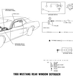 1968 mustang wiring diagram rear window defrost [ 1500 x 853 Pixel ]