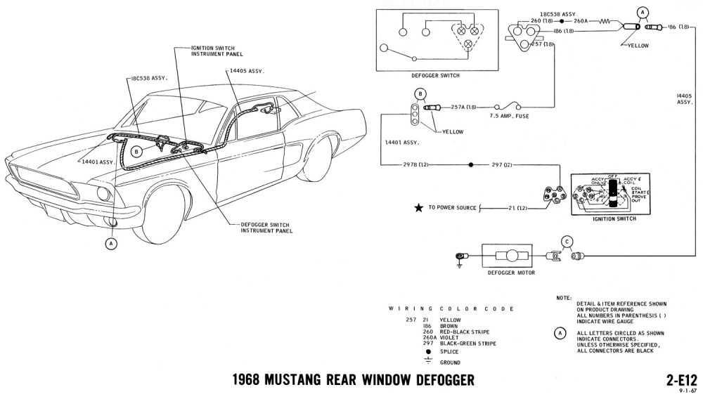 medium resolution of 1968 mustang wiring diagram rear window defrost