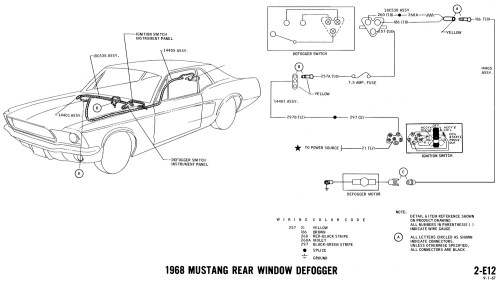 small resolution of 1968 mustang wiring diagram rear window defrost schematic diagram 69 mustang window wiring diagram