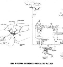 1968 mustang wiring diagram wiper washer [ 1024 x 773 Pixel ]