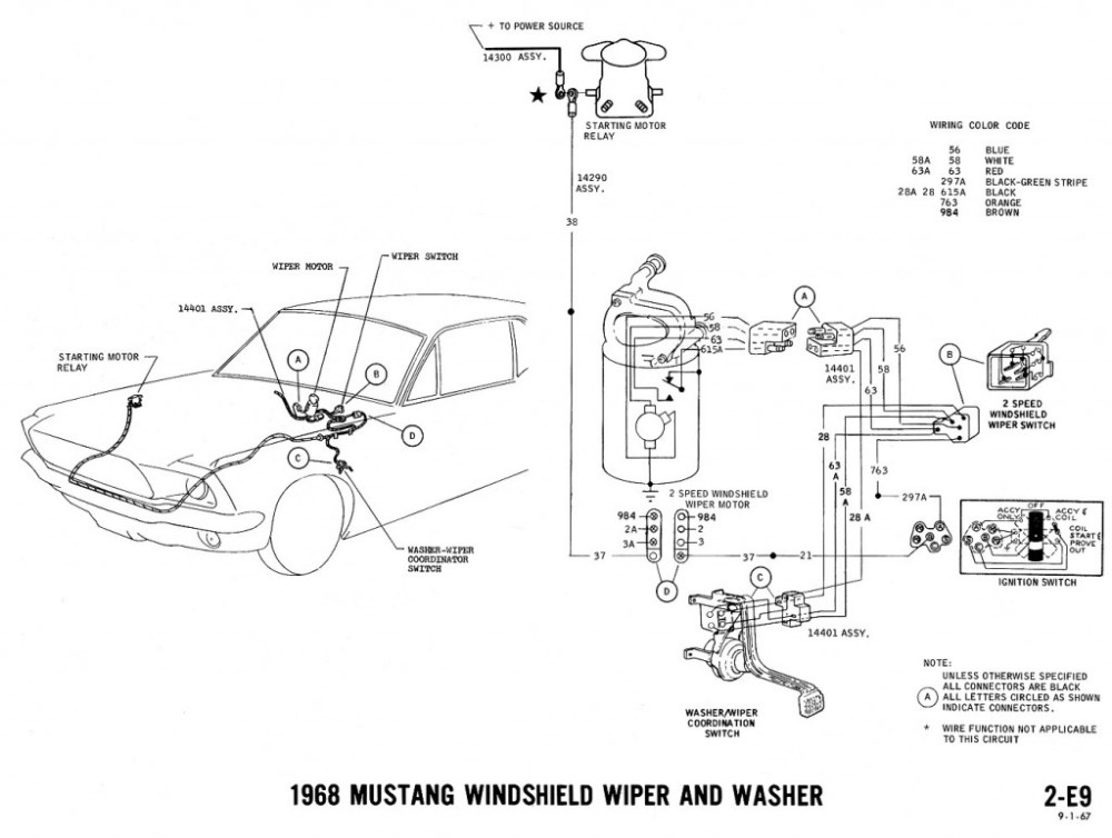 medium resolution of 1968 mustang wiring diagram wiper washer