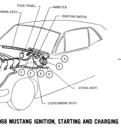 1968 mustang wiring diagram ignition starting charging 2 [ 1770 x 800 Pixel ]