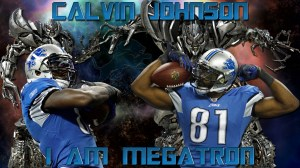 Calvin Johnson I Am Megatron Detroit Lions 2011 Wallpaper 1920x1