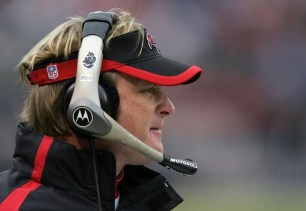 CHICAGO - DECEMBER 17: Head coach Jon Gruden of the Tampa Bay Buccaneers looks on against the Chicago Bears December 17, 2006 at Soldier Field in Chicago, Illinois. (Photo by Jonathan Daniel/Getty Images) *** Local Caption *** Jon Gruden