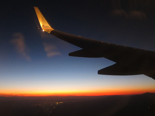 American Airlines Wingtip at Sunset