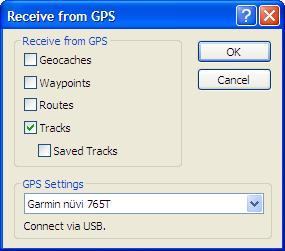 Import Tracks from EasyGPS