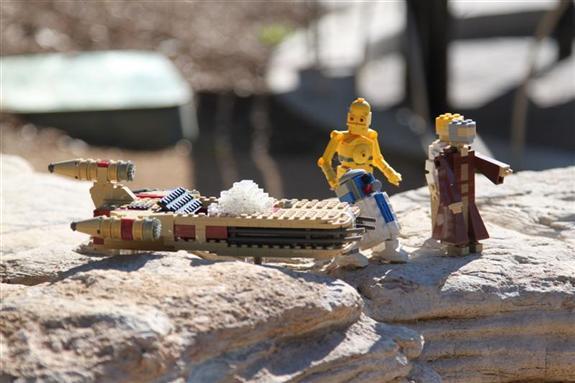 Star Wars Miniland Speeder at Legoland California