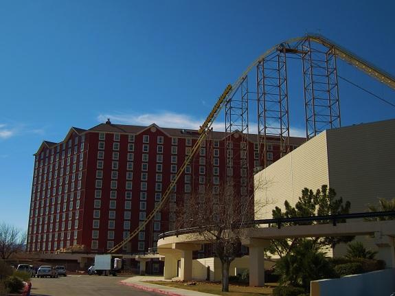 Deperado Coaster Drop at Buffalo Bills Primm Nevada