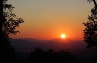 Sunrise at the Len Foote Hike Inn, September 11, 2011