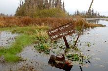 Swamp Sign in the Okefenokee Swamp, Georgia