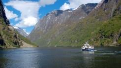Ferry departing Gudvangen