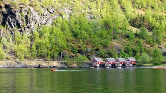 Fishing cabins in Flåm
