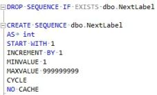 Create Sequence Code