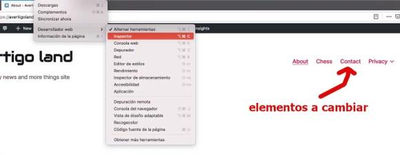 wordpress cambio color template
