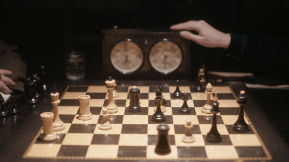 The Queen's gambit chess pieces