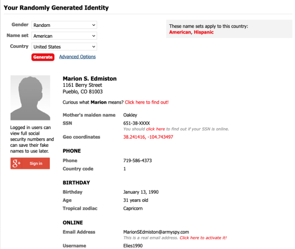 fake identity identidad falsa