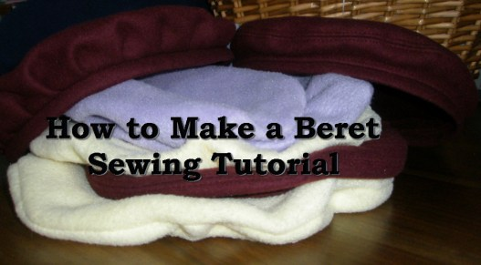 how to make a plain or pleated Beret Sewing Tutorial