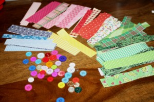 Avery Lane Blog Paper strip Christmas Card craft tutorial