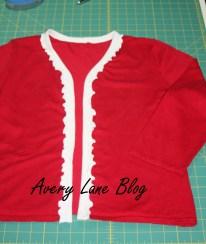 Upcycle Sweater Tutorial : V-neck to Ruffle Cardi