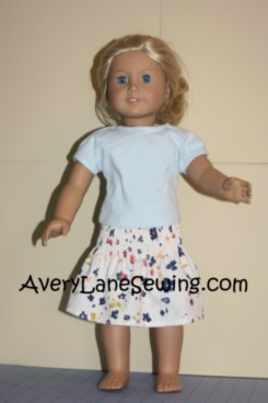 Elastic Smocked Skirt for Doll