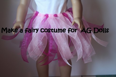 Faerie costume for dolls tutorial for kids