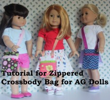 Hip Zip Bag for 18 inch dolls Sewing Tutorial for crossbody bags with zipper Looks so easy and cute!