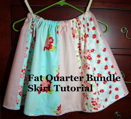 Fat Quarter Bundle Skirt Tutorial
