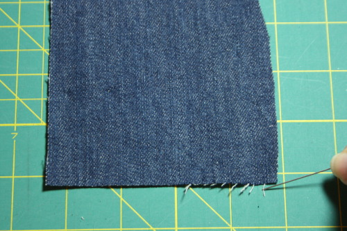 frayed hem tutorial Sew in Style - Make Your Own Doll Clothes 3
