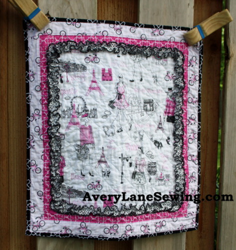 Timeless Treasures Bonjour Doll Quilt Sewing Tutorial 2a