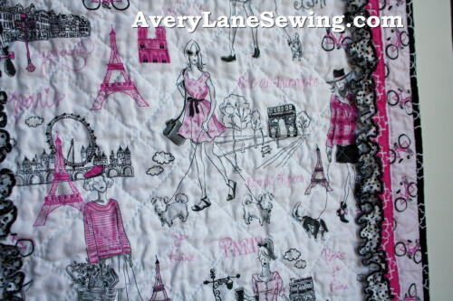 Timeless Treasures Bonjour Doll Quilt Sewing Tutorial 6a
