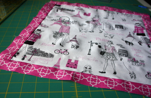 doll quilt tutorial Bonjour Fabric by Timeless Treasures 2