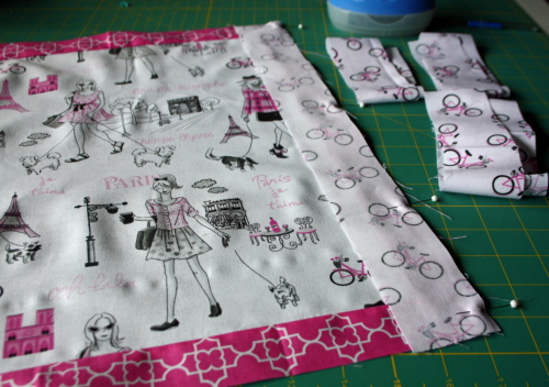 doll quilt tutorial Bonjour Fabric by Timeless Treasures 3