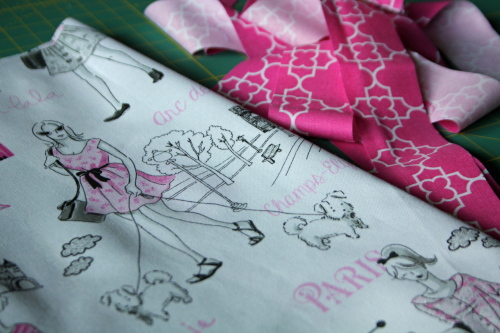 doll quilt tutorial Bonjour Fabric by Timeless Treasures1a