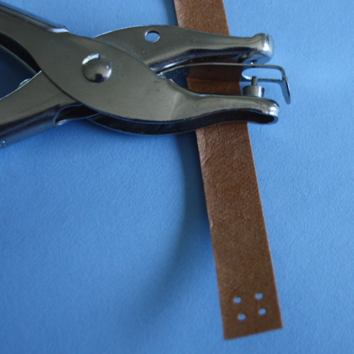 Kraft Tex headband tutorial hole punched image 1