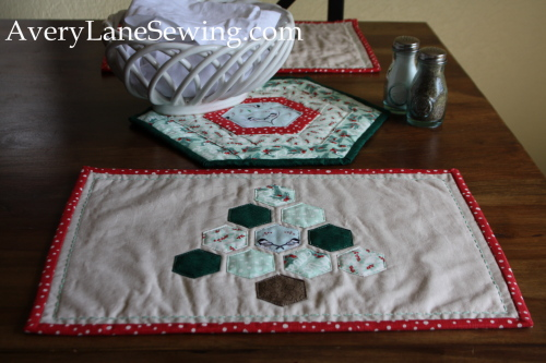Holiday Hexagon Quilted Placemats Avery Lane Sewing