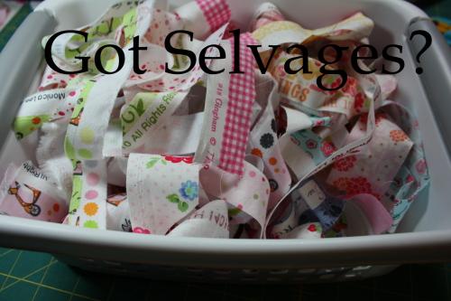 Selvage Quilt Blocks Tutorial