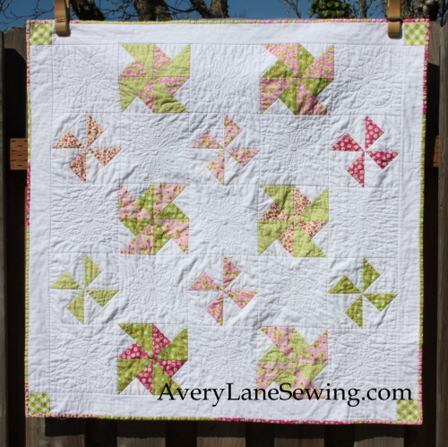 Playful Pinwheels Baby Quilt Avery Lane Sewing
