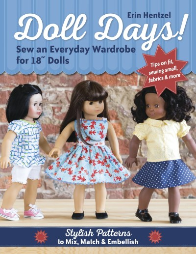 Doll Days! new sewing book full of amazing patterns for AG Dolls. Designs look much more modren and better fitting than other doll patterns