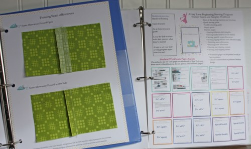 Workbook example page and quick guide in teacher's manual resized