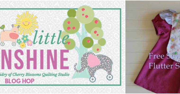 My Little Sunshine Blog Hop, Fabric Giveaway, and a Flutter Sleeve Bib Tutorial