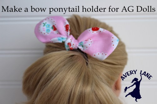 Easy Knot Bow Ponytail Holder Tutorial Avery Lane Sewing
