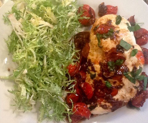 Super Easy (and Delicious) Caprese Chicken