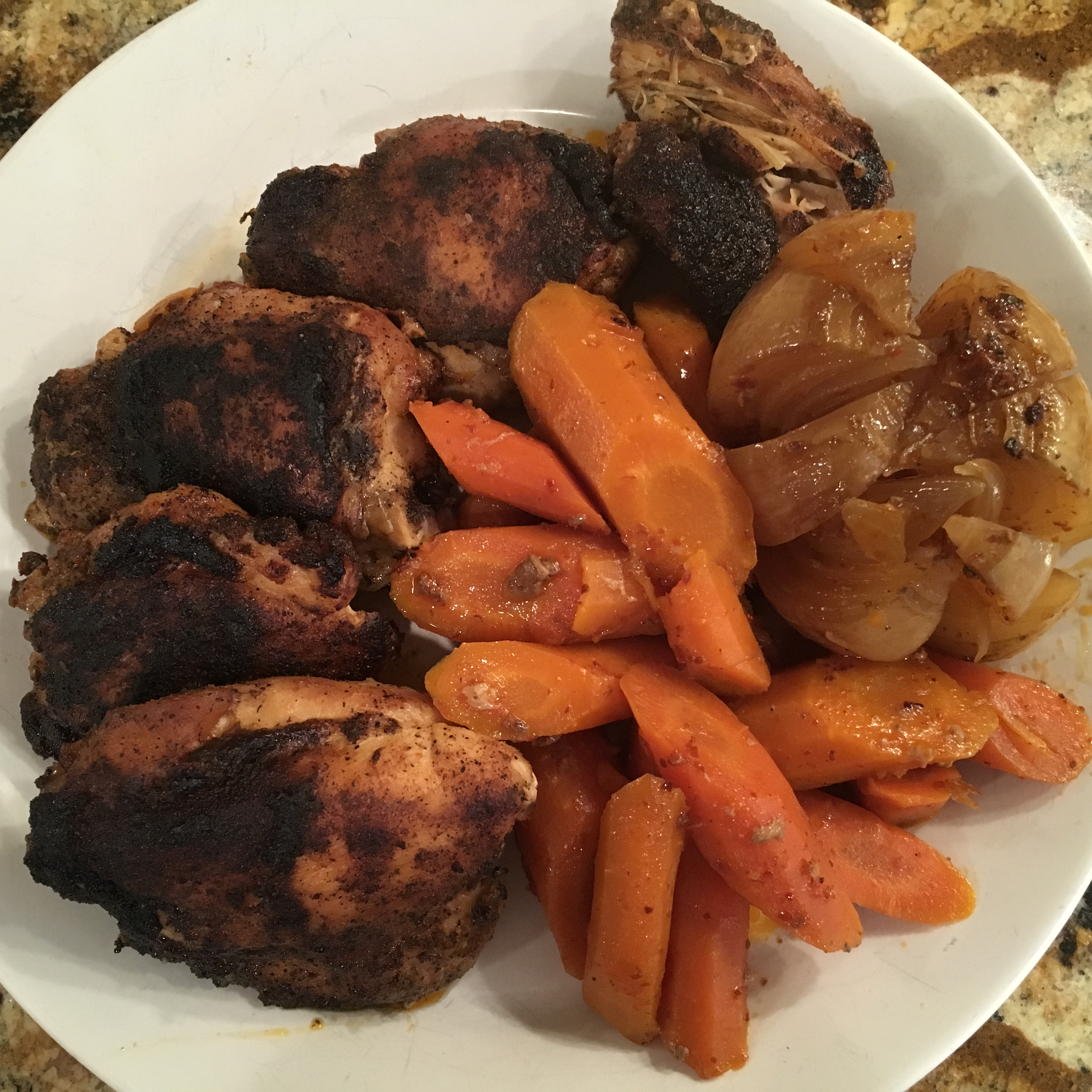 Chicken Thighs with Harissa Vegetables from Cooking Light