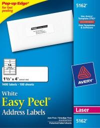 Avery Easy Peel White Address Labels-5162 - Avery Online ...