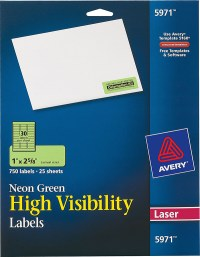 Avery Neon Green High-Visibility Labels-5971 - Avery ...