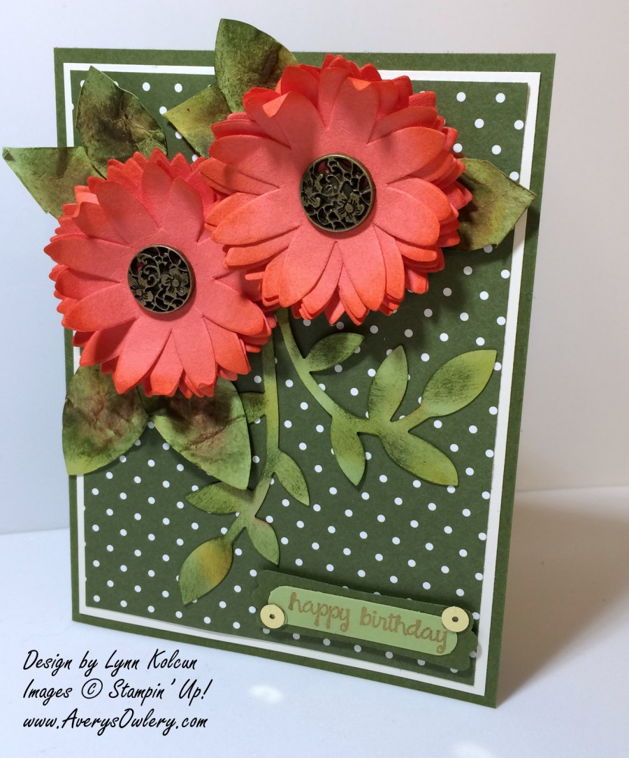 Stampin Up 3d Flowers Antique Brads