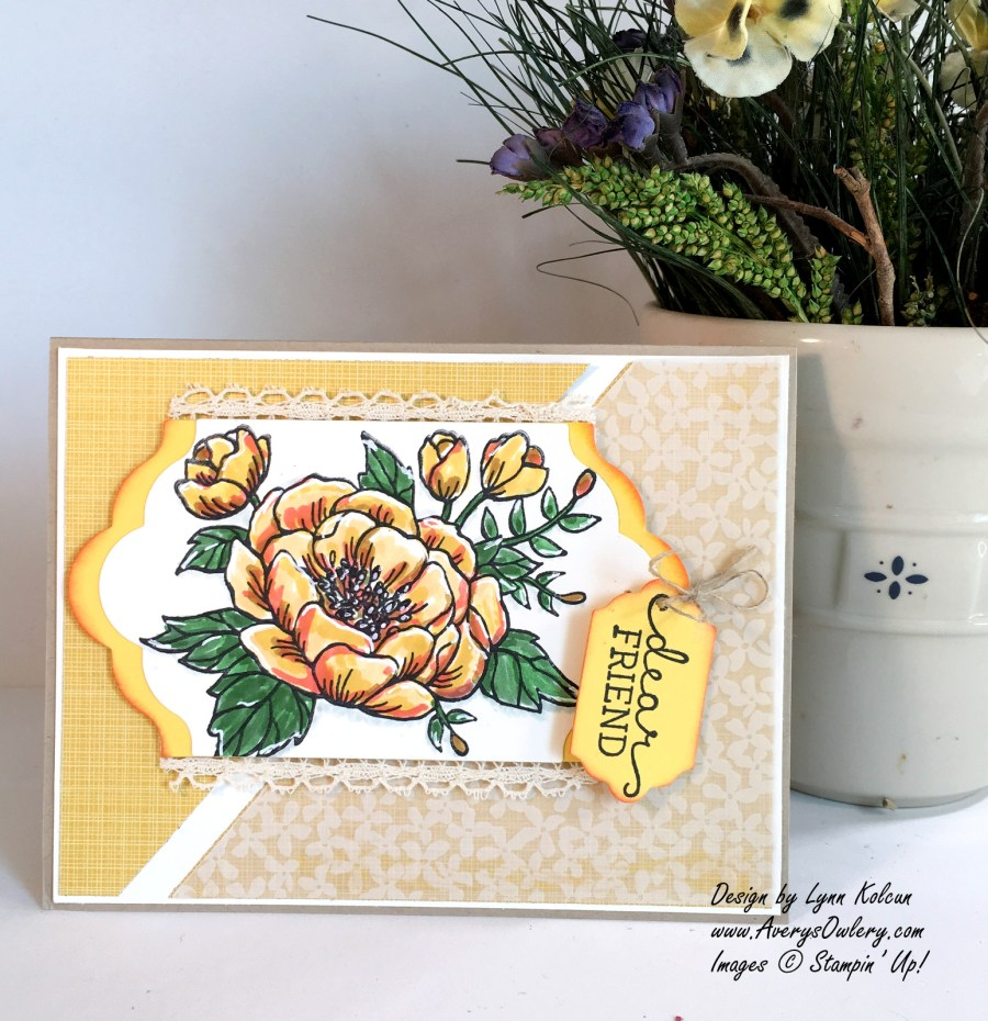 Stampin Up Birthday Blooms AverysOwlery.com