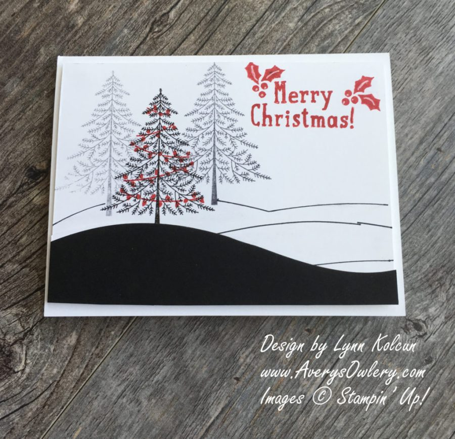 Stampin Up AverysOwlery.com Peaceful Pines